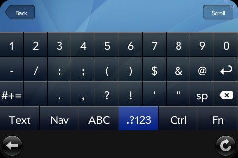 Numerické klávesy